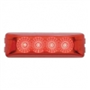 4 LED Reflector Rectangular Clearance/Marker Light - Red LED/Red Lens