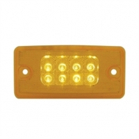 8 LED Freightliner Reflector Cab Light - Amber LED/Amber Lens