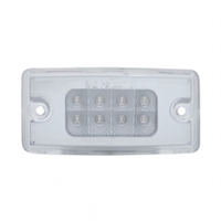 8 LED Freightliner Reflector Cab Light - Amber LED/Clear Lens