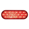 19 LED Reflector Oval Stop, Turn & Tail Light - Red LED/Red Lens