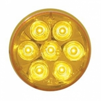 "7 LED 2"" Reflector Clearance/Marker Light - Amber LED/Amber Lens"