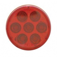 "7 LED 2"" Reflector Clearance/Marker Light - Red LED/Red Lens"