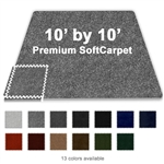 10 FT X 10 FT PREMIUM INTERLOCKING SOFT CARPET TILE TRADESHOW BOOTH FLOORING