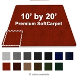 10 FT X 20 FT PREMIUM INTERLOCKING SOFT CARPET TILE TRADESHOW BOOTH FLOORING