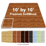 10 FT X 10 FT PREMIUM INTERLOCKING SOFT WOOD TILE TRADESHOW BOOTH FLOORING