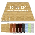 10 FT X 20 FT PREMIUM INTERLOCKING SOFT WOOD TILE TRADESHOW BOOTH FLOORING