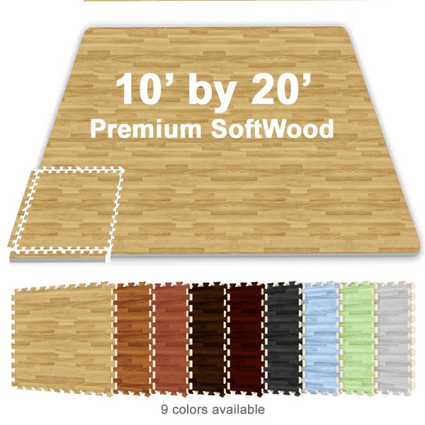 10 Ft X 20 Ft Premium Interlocking Soft Wood Tile