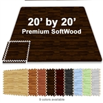 20 FT X 20 FT PREMIUM INTERLOCKING SOFT WOOD TILE TRADESHOW BOOTH FLOORING