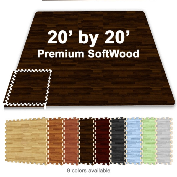 20 Ft X 20 Ft Premium Interlocking Soft Wood Tile Tradeshow Booth
