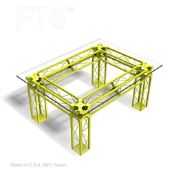 CONTEMPORARY TRUSS TABLE 56 BY 42 BY 25 INCH HIGH