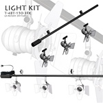 LIGHTING TRACK KIT, 48'' LONG, 3- PAR16 LIGHTING FIXTURES AND 1-150W-120V TO12V TRANSFORMER