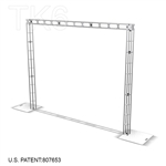 AMICA - 13FT X 10FT TK6 BOX TRUSS ARCH DISPLAY <BR> [FRAME ONLY]