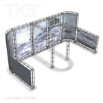 AKITA, 10 X 20 ALUMINUM TRADE SHOW TRUSS DISPLAY EXHIBIT BOOTH