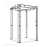 MILANO - 5FT X 8FT ALUMINUM TRUSS DISPLAY <BR> [FRAME ONLY]