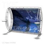 CANADA 2  - 9FT X 7FT ALUMINUM TRUSS BACKWALL DISPLAY <BR> [FRAME ONLY]