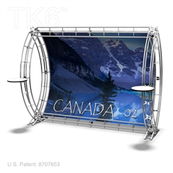 CANADA 2 - 9FT WIDE TK6 TRUSS BACKWALL DISPLAY <BR> [LIGHTS, TOPS & GRAPHIC KIT]