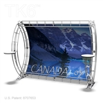 CANADA 3  - 10FT X 8FT ALUMINUM TRUSS BACKWALL DISPLAY <BR> [FRAME ONLY]