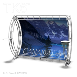 CANADA 3 - 10FT WIDE TK6 TRUSS BACKWALL DISPLAY <BR> [LIGHTS, TOPS & GRAPHIC KIT]