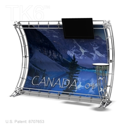 CANADA 4 - 9FT WIDE TK6 TRUSS BACKWALL DISPLAY <BR> [LIGHTS, TOPS & GRAPHIC KIT]