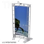 CUBA 1 - 5FT WIDE TK6 ALUMINUM TRUSS BACKWALL DISPLAY <BR> [LIGHTS, TOPS & GRAPHIC KIT]
