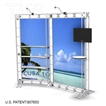 CUBA 10 - 9FT WIDE TK6 TRUSS BACKWALL DISPLAY <BR> [LIGHTS, TOPS & GRAPHIC KIT]