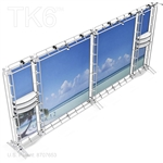 CUBA 12 - 8FT X 20FT ALUMINUM TRUSS BACKWALL DISPLAY <BR> [FRAME ONLY]