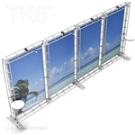CUBA 13 - 8FT X 20FT ALUMINUM TRUSS BACKWALL DISPLAY <BR> [FRAME ONLY]