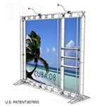 CUBA 8 - 10FT WIDE TK6 TRUSS BACKWALL DISPLAY <BR> [LIGHTS, TOPS & GRAPHIC KIT]