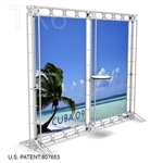 CUBA 9 - 10FT WIDE TK6 TRUSS BACKWALL DISPLAY <BR> [LIGHTS, TOPS & GRAPHIC KIT]