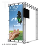 CORO - 10FT X 10FT ALUMINUM TRUSS DISPLAY <BR> [LIGHTS, TOPS & GRAPHIC KIT]