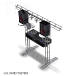 DJ ONE - 8FT X 8FT TK6 BOX TRUSS DJ STAND <BR> [FRAME ONLY]