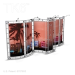 MIAMI - 10FT X 20FT ALUMINUM TRUSS DISPLAY <BR> [FRAME ONLY]