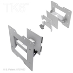 Monitor Mount for attaching a 30 inchs or smaller monitor to a TK6 truss, Monitor Mount Rotates Up & Down and Side to Side with Vista pattern