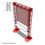 RETAIL DISPLAYER WITH PERFORATED METAL SCREEN, TK6