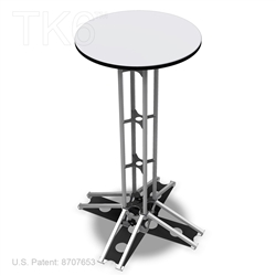 TABLE, 42 in high truss with 24 in Diameter Top