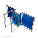 UBE - 10FT X 20FT ALUMINUM TRUSS DISPLAY <BR> [LIGHTS, TOPS & GRAPHIC KIT]