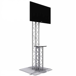 8FT TK8 TRUSS MONITOR STAND KIOSK WITH COUNTER TABLE TOP