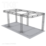 Douglas - 10 Ft X 20 Ft TK8 Aluminum Box Truss Booth