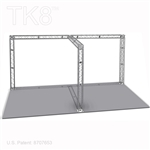 Alexander 10 - 10 Ft X 20 Ft TK8 Aluminum Box Truss Booth