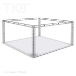 William 10 - 20 Ft X 20 Ft TK8 Aluminum Box Truss Booth