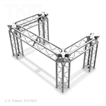 DJ FOUR - 4FT X 6FT TK8 ALUMINUM BOX TRUSS DJ STAND <BR> [FRAME ONLY]