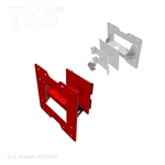 MONITOR MOUNT, ROTATES UP AND DOWN AND SIDE TO SIDE, TK8