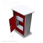 PODIUM WITH LOCKING CABINET