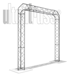 Prix - 8 ft by 8 ft Aluminum Ultratruss Triangular Truss Arch