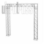 California - 9 ft by 9 ft Aluminum Ultratruss Box Truss Arch