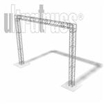 Charlottesville - 16 ft by12 ft Aluminum Ultratruss Box Truss Arch