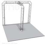 Isabella - 10 Ft X 10 Ft Triangle Aluminum Truss Booth