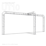 Olivia - 10 Ft X 20 Ft Triangle Aluminum Truss Booth