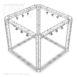 Angelica - 10 Ft X 10 Ft Aluminum Triangle Truss Booth with Four Light Tracks