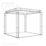 Mia - 10 ft x10 ft triangle aluminum truss booth